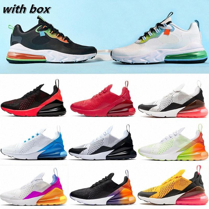 Luxus Designer Kissen 270 Sport Sneakers Herren Laufschuhe CNY Rainbow Ferse Trainer Road Star Platinum Jade Bred Frauen 270s