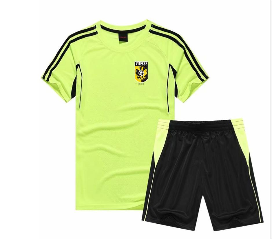 2021 Stichting Betaald Voetbal Vitesse Set da incasso Design Personalizzato Quick Dry Dry Sports Abbigliamento sportivo Abbigliamento da calcio Uniformi calcio Jersey Set Shirt Pant