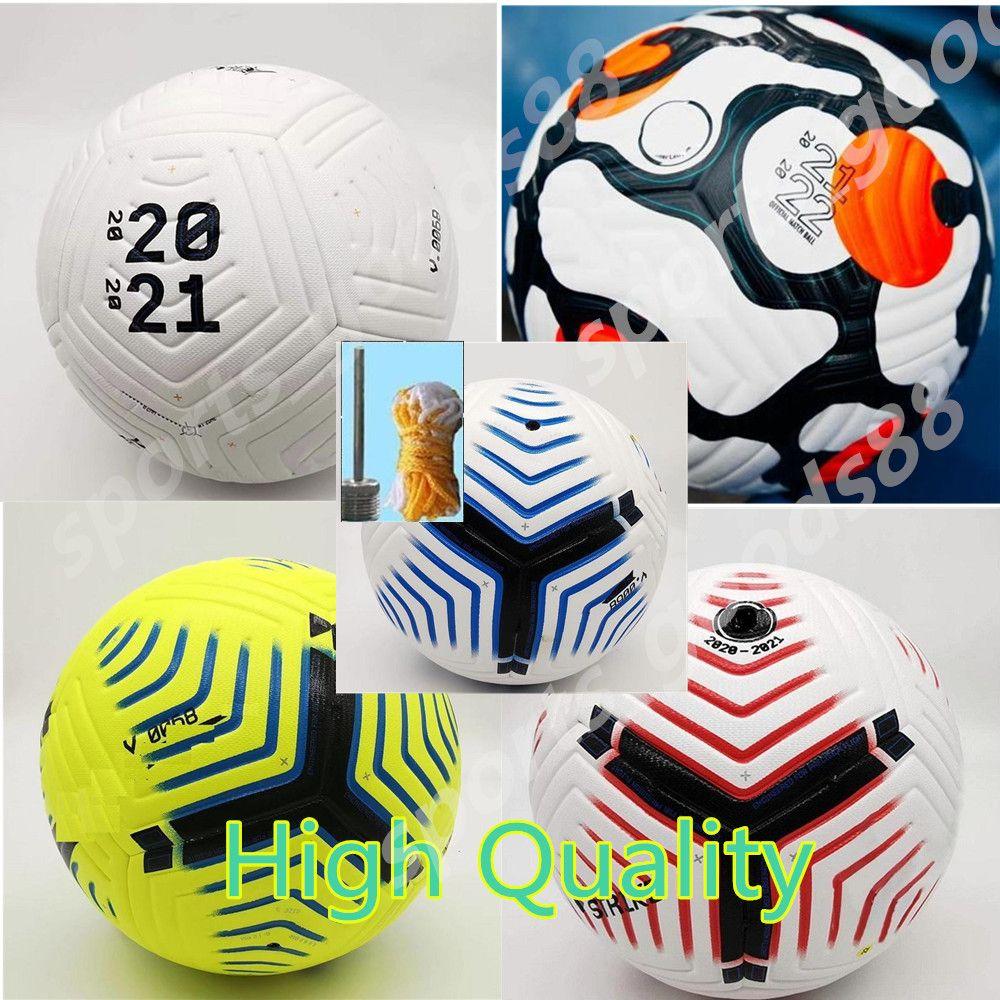 Club League 5 Balls 2021 2022 Balón de fútbol Tamaño 5 Finanzas de alto grado de alta calidad Liga Premer Finales 22 22 Bolas de fútbol (barco las bolas sin aire)