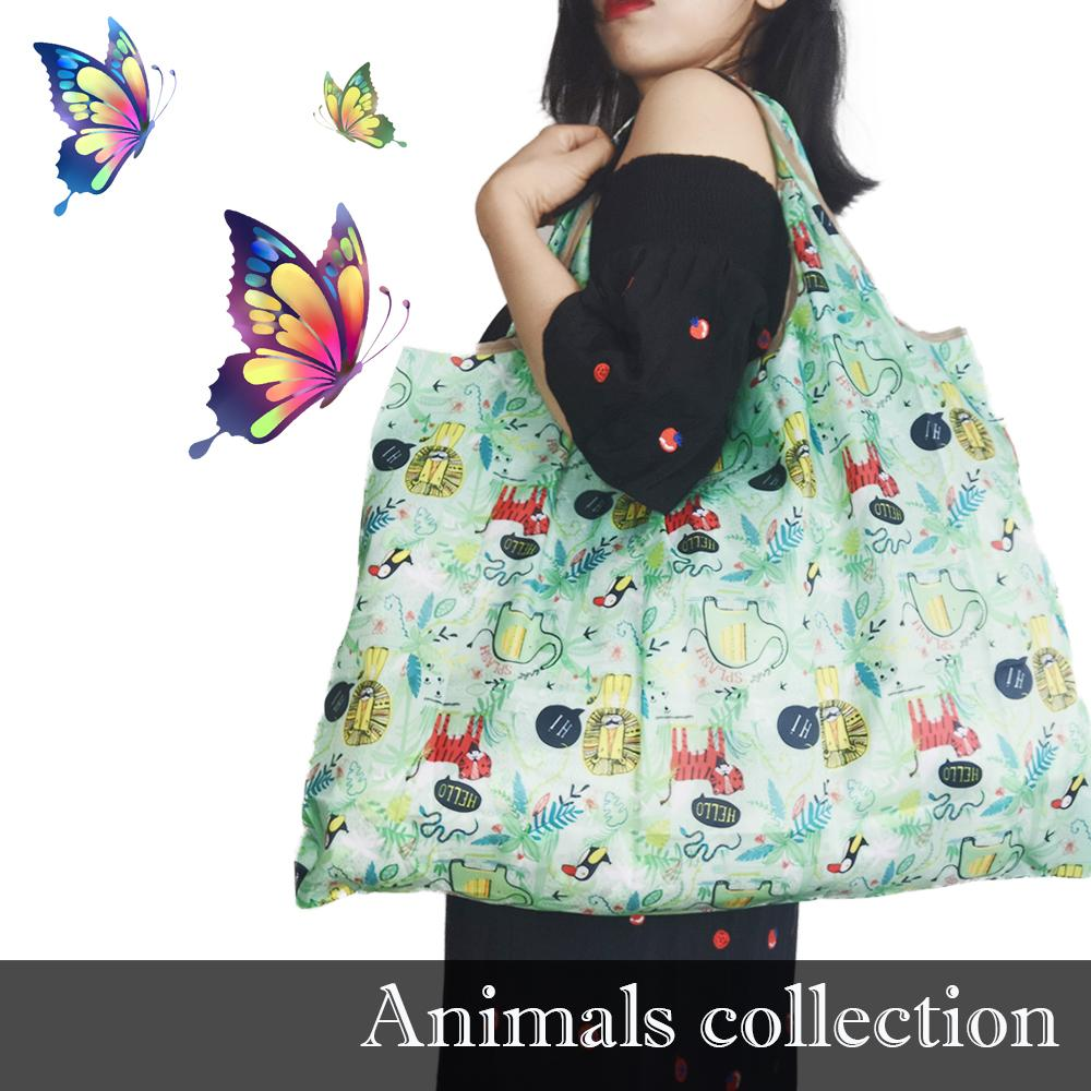 Saco de compras Oxford dobrável bolsas de compras eco amigável sacos de compras grande sacos de mercearia reutilizáveis saco de compras de saco de compras de nylon