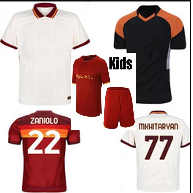 2021 2022 الروما المنزل بعيدا كرة القدم الفانيلة مع 20/2 21 dzeko perotti totti de.rossi camiseta كرة القدم شير