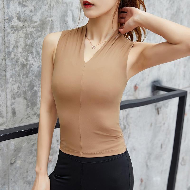 Yoga Outfits Sport Jerseys Tops Women Sexy Gym Top Sportswear Vest Fitness Tight Woman Clothing Sleeveless Running Shirt Tank