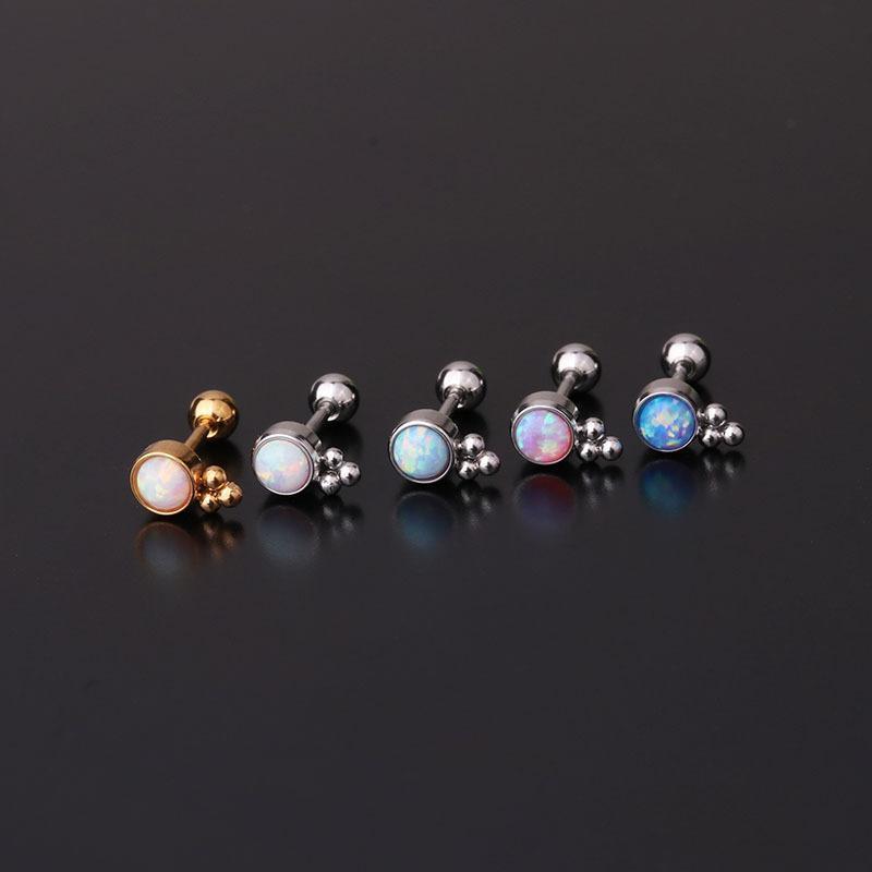 Pendientes de cartílago pequeños de cristal de acero inoxidable para mujeres Mini Conch Piercing Piercing joyería