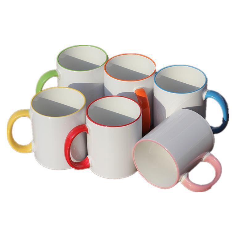 320 мл керамическая пустая сублимационная кружка теплопередача MDF ручка кружки личности DIY простая чашка кофейных чашек