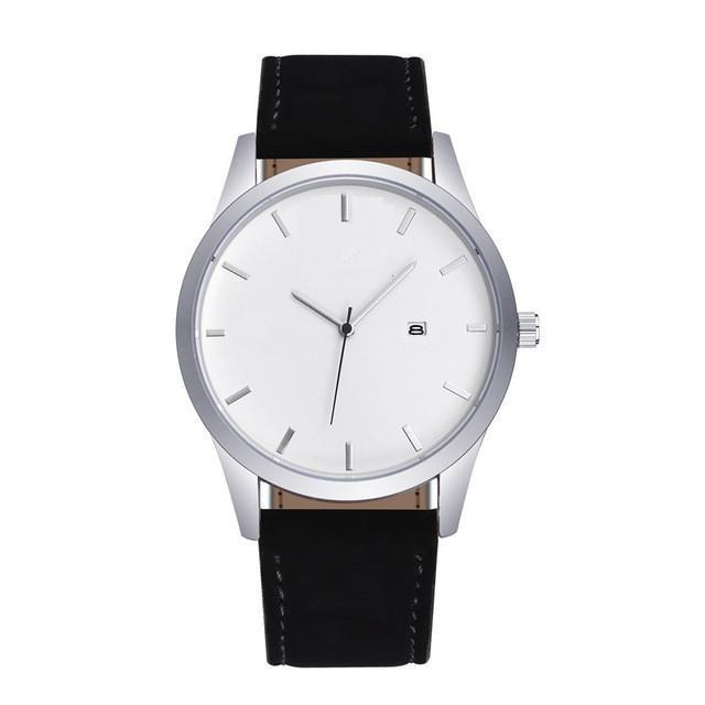 Wristwatches Mens Quartz Watch Military Sport Wristwatch Leather Strap Clock Watches Complete Calendar Male Gifts