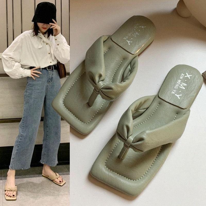 Cinnyd Pu Heels Chaussures Femme Summer Flip Flop Sandales Femme 2020 Beach Pantoufles Chaussures Femmes Chaussures Extérieur Fashion Femme Pantoufles 40 O8D1 #