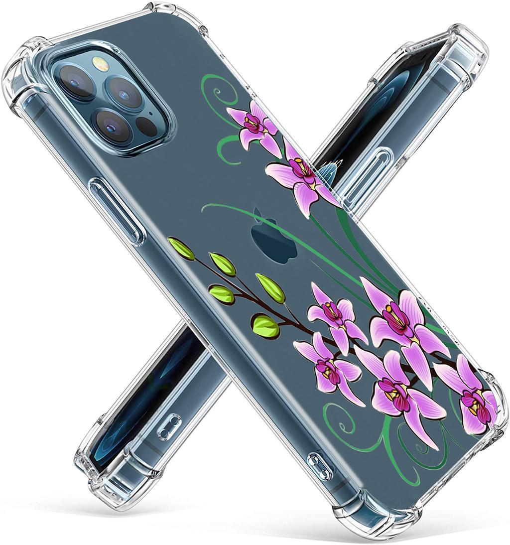 Flor pequena transparente transparente macio fexível casos de telefone tpu para iphone 12 11 pro max xr xs 8 7 6 mais mini armadura de ar abundante capa de flor abundante