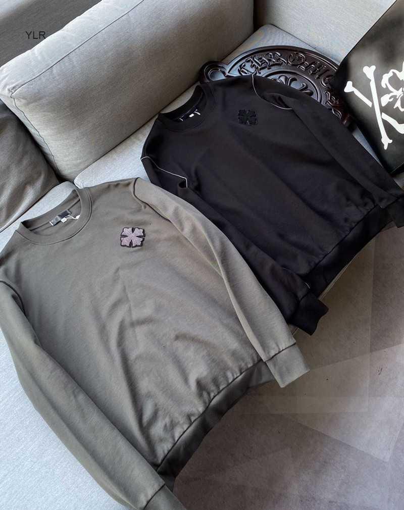 2020 модный бренд Jikeluoxin Cross Sanskrit Чистый хлопок свободно круглые шеи с длинным рукавом повседневная свитер мужская футболка