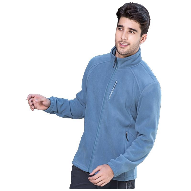 Giacche da uomo The Pilot Fashion Tempo libero Colore Pure Color Polar Pile Giacca da baseball Hip-Hop TurtleNeck Coat Cardigan Sport