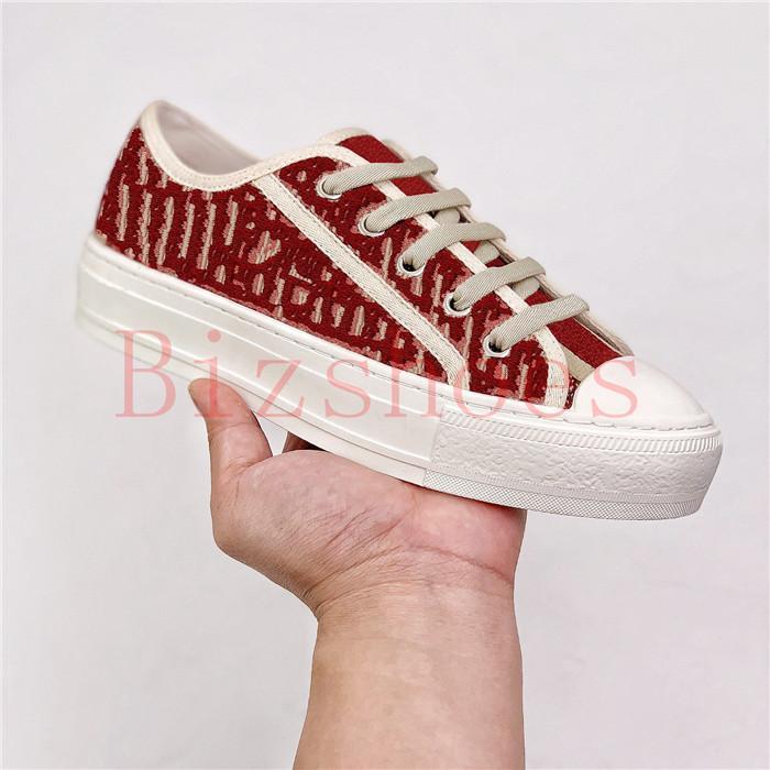 Bordo Eğik Işlemeli Pamuk Ayakkabı Kauçuk Sole ile Yıldız Dolu Ekler Lüks Tasarımcılar Sneaker Spor ve Eğlence Tuval Walk'n'Sneaker