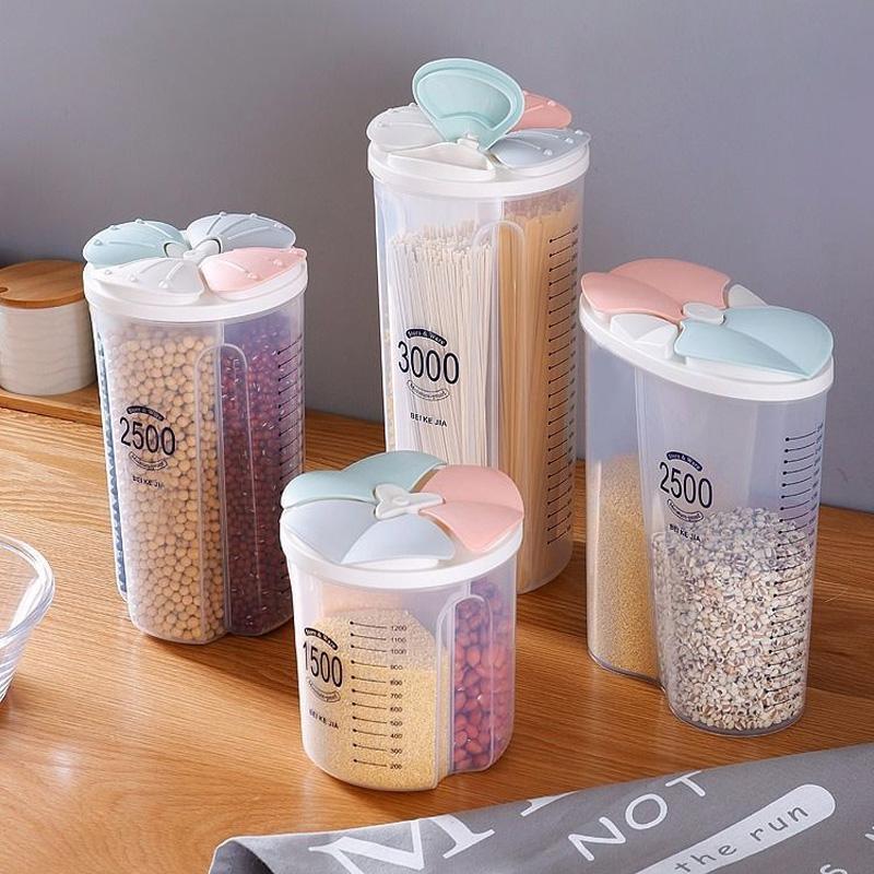 Storage Bottles & Jars Food Box Kitchen Supplies Grain Tank Moisture-Proof Sealed Transparent Organizers