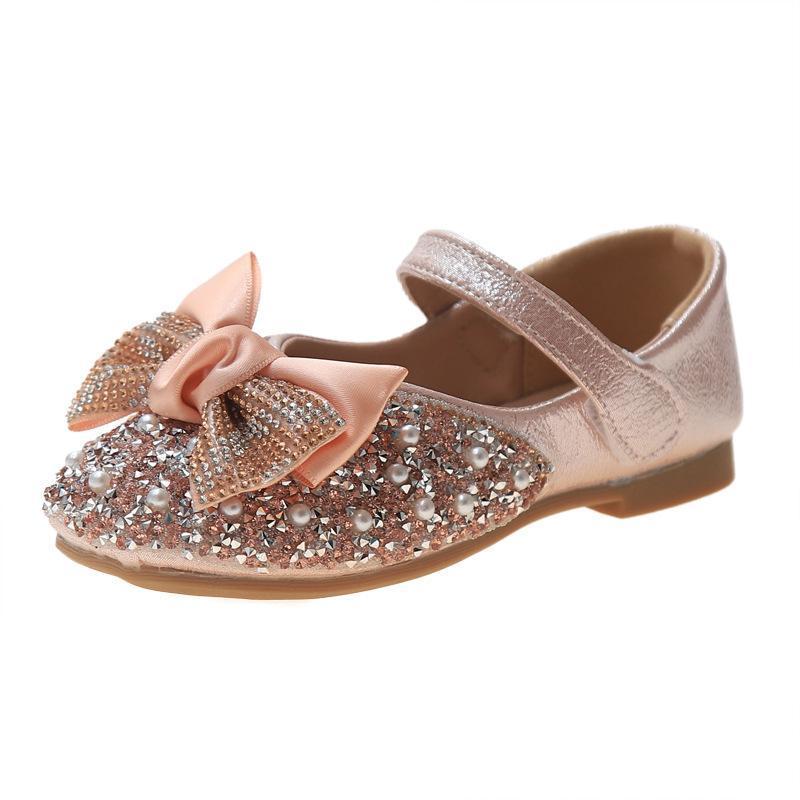 حبات الفتيات الشقق للأطفال الأطفال الرقص أحذية بووتي هدية عيد الأميرة لطيف مريحة الأحذية الإناث الكريستال التسلق الصنادل