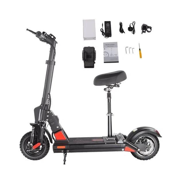 Bogist C1 برو دراجة كهربائية سكوتر 48V 13AH حتى 40 كم / ساعة 40km طويلة رن 10 الهواء مملوءة الإطارات طوي الشاشة الذكية