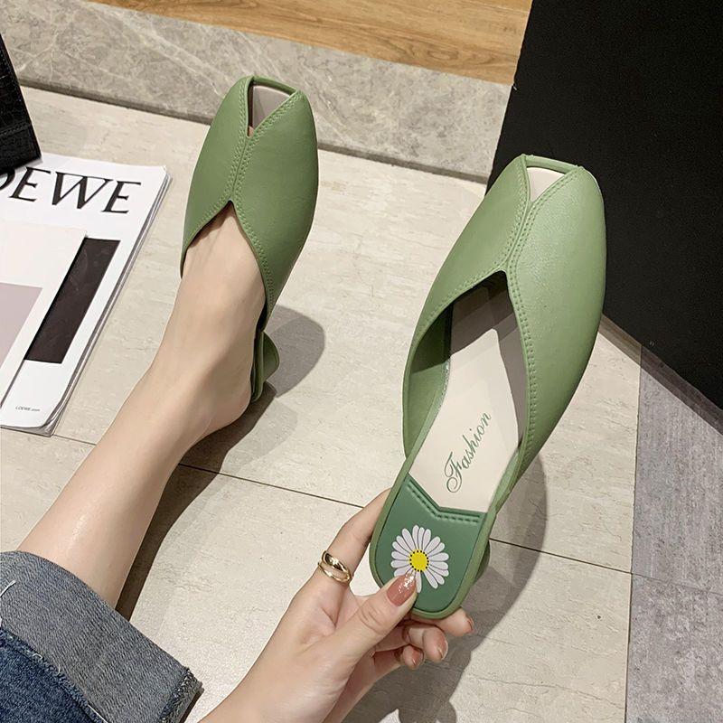 النساء الكلاسيكية خفيفة الوزن الأخضر المطاط شاطئ الصيف أحذية كعب سيدة عارضة الأسود بو الجلود المفتوحة تو أحذية C6292