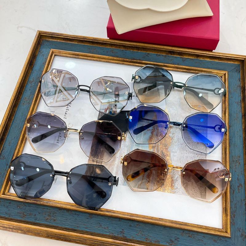 Бренд дизайнер женские солнцезащитные очки Полигональные рамки Солнцезащитные Очки Оберните дизайн для женщин Летние моды Дамы