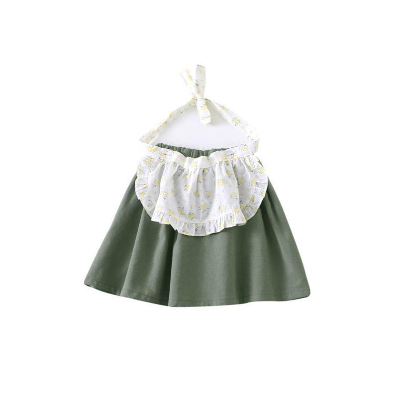 Mädchen Casual Röcke Kinder Frühling Herbst Patchwork Fake Zwei Beige Grün Schürze Rock Baby Mädchen Alle Spielkleidung 1-5 Jahre