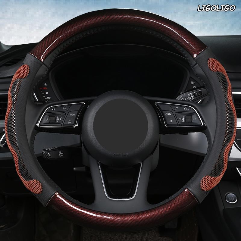 Рулевое колесо крышки Ligoligo Microfiber кожаный автомобиль крышка для Isuzu d Max Trooper Rodeo MUX ERTIGA APV IGNIS Edition SX4