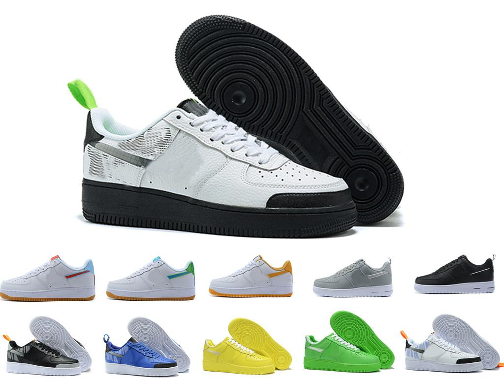 Продажа мужчин Мужчины Женщины Высокое Качество Один 1 Бегущие Обувь Низкий Вырезать Все Белые Черные Трехместные Мужские Наружные Кроссовки Размер 36-45