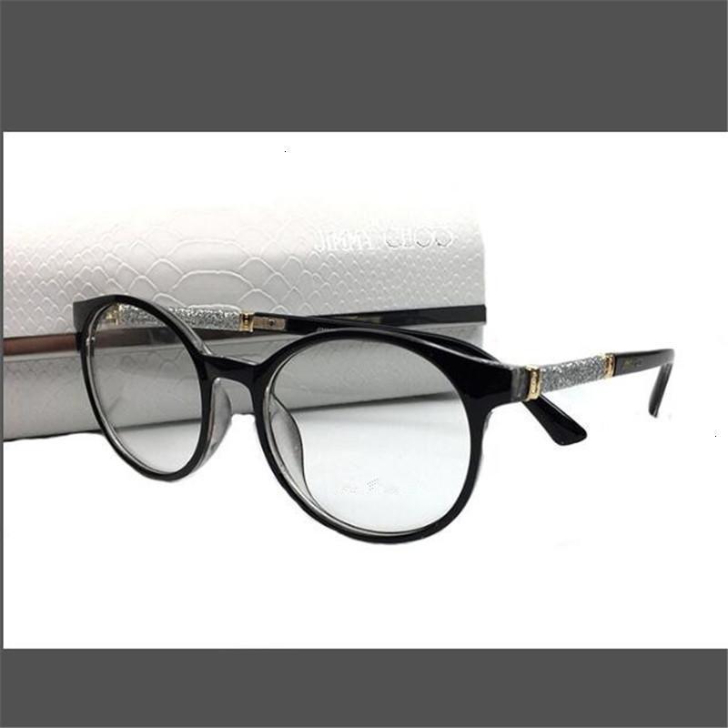 Kapelus Sunglasses Llanura para hombres y mujeres Circular transparente espejo óptico gafas metálicas Myopia Frame Match Snake