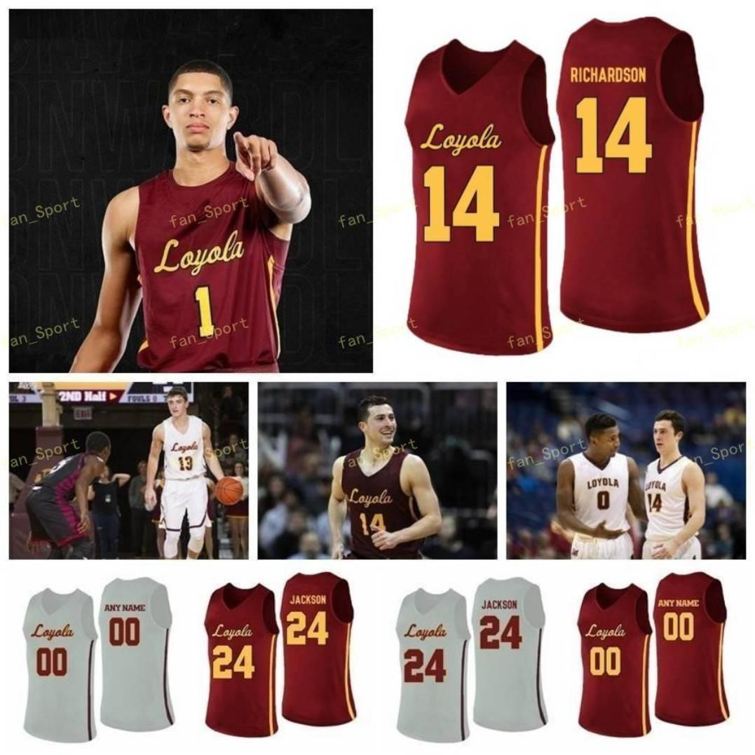 NCAA College Loyola Chicago Ramblers Basketball Jersey 45 Will Alcock 5 Clemons Marques Townes 50 Jalon Pipkins 64 Schwester Jean 98 Custom genäht
