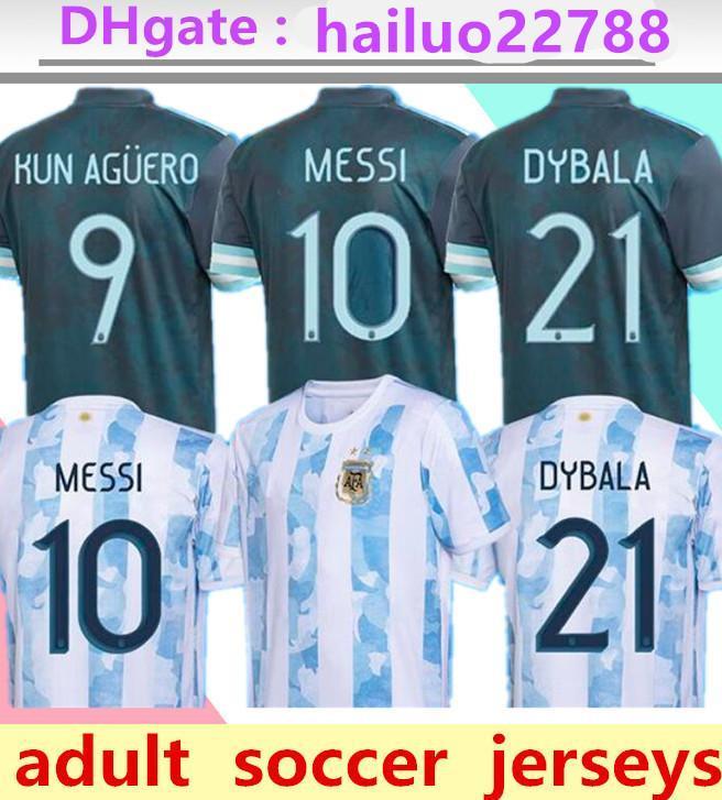 2021 Arjantin Futbol Formaları Copa Futbol Gömlek Messi Dybala Aguero Lo Celso Martinez Tagliafico Camiseta de FutBoll