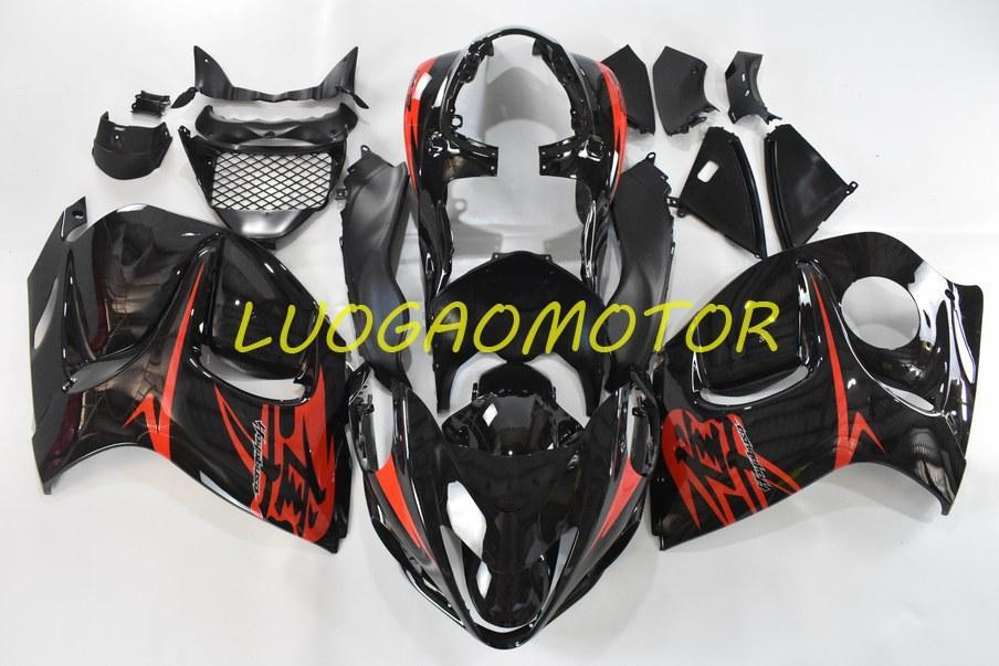 Einspritzkörper-kundenspezifische Verkleidung Kit für Suzuki Hayabusa GSXR1300 GSXR 1300 2008 2009 2010 2011 Cowling 2012 2013 2013 2014-2015 flamme rot schwarze reinigung kits