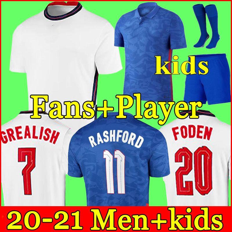 ENGLAND Maglia da calcio INGHILTERRA 2020 2022 KANE STERLING RASHFORD SANCHO HENDERSON BARKLEY MAGUIRE 20 22 maglie da calcio nazionale uomo + kit per bambini set uniformi