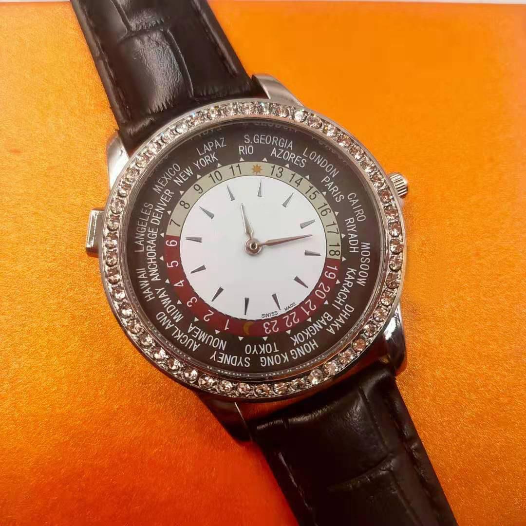 الفاخرة جديد أزياء جلد الماس للماء الأعلى هدية ووتش ماركة السيدات ووتش مع مربع الأصلي الكوارتز مشاهدة الجملة02