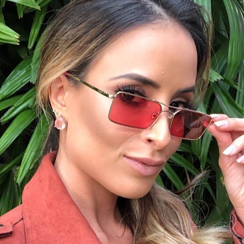 Strahlbrille Blatt Frauen Europäische Sonnenbrille Ozean Doppel Persönlichkeit Mode Frame American Metall und ONRFL