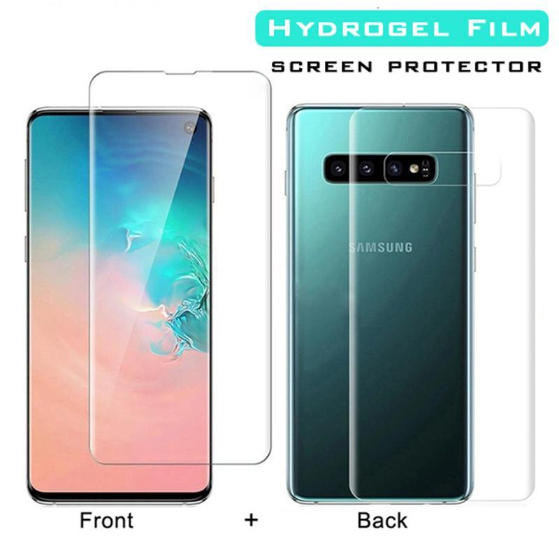 Cell Phone Screen Protectors 10PCS 20D Front+Back Full Cover Hydrogel Film For Galaxy S9 S8 S10 Plus Protector Note 8 9 10 S10e