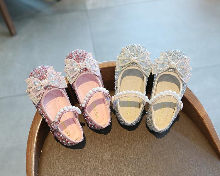 Девочки Принцессы Обувь Детские Детские Повседневные Удобные Сандалии Лук Одиночные Обувь Мода Мигающая Принцесса Милая Девушка Обувь 2021