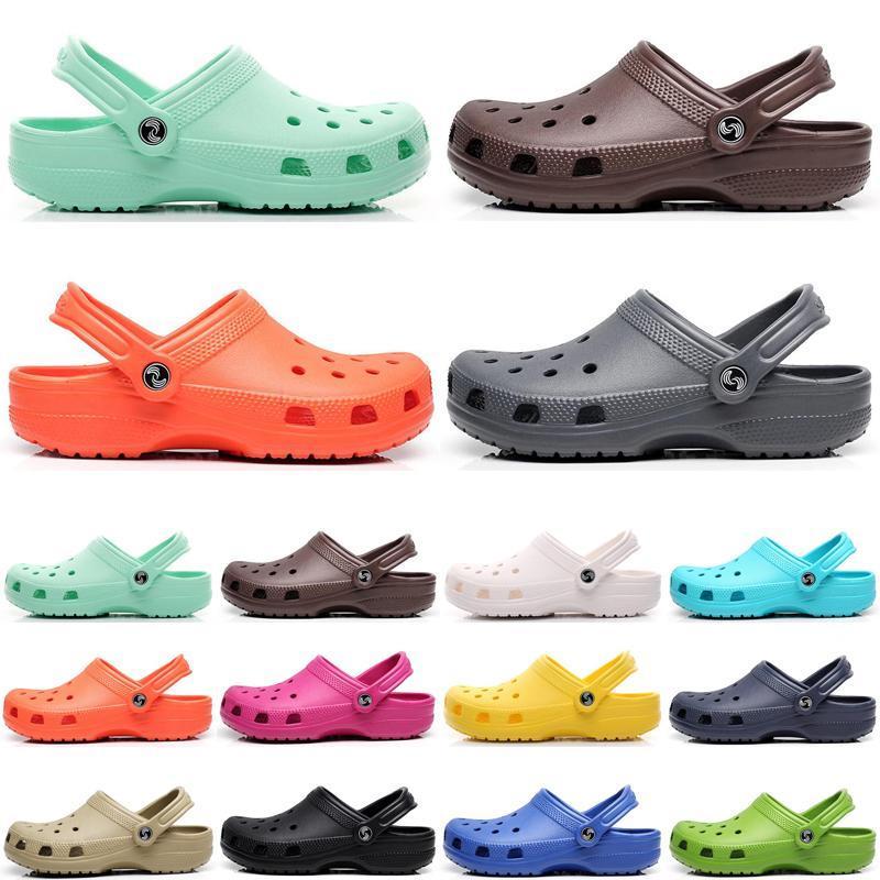 2021 الأزياء الكلاسيكية هول الأحذية الشرائح الرجال النساء الخوض النعال الثلاثي أبيض أسود وردي رجل رويال مريح واحد خطوة خفيفة الوزن الصنادل ثمانية عشر type48