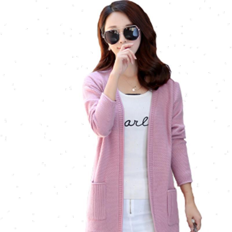 Корейский женские свитера мода осень вязание кардиган женские весенние свитер секции и длинные V-шеи полная рукав шерсть тонкий