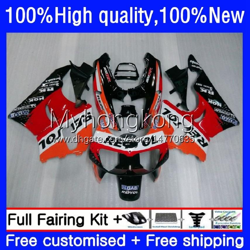 Verkleidung Kit für Honda CBR 893RR 900RR 893 900 CC CBR900RR 89-93 Bodys 36NO 0 CBR893RR 89 90 91 92 93 CBR900 CBR893 RR 1989 1990 1991 1992 1993 OEM-Bodywork Repsol Orange
