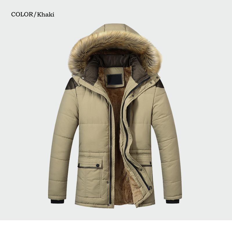 겨울 고품질 재킷 카키 캐주얼 X-Long 두꺼운 따뜻한 면화 파카 후드 오버 코트 버블 망 자켓 및 코트 남성 다운
