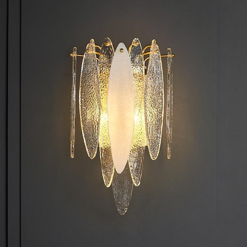 현대 벽 램프 침실 유리 sconce 럭셔리 sconces 비품 침대 옆 거실 LED 실내 홈 조명 북유럽