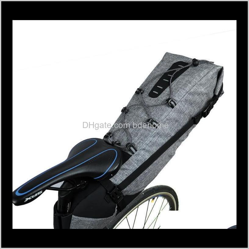 Panniers Sacs Sports Extérieur Drop Drop Livraison 2021 Selle imperméable 12L Cyclisme Sac de siège pliable de queue pliable VTT Vélo Vélo Aessories High-Capa