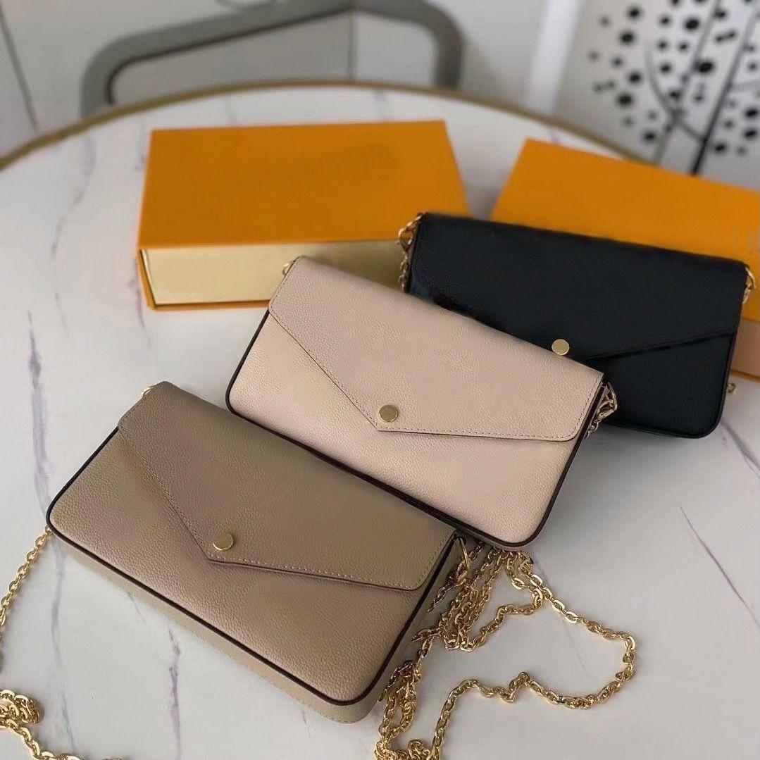 Embrague de cuero para mujeres bolsas de noche corss titular de la tarjeta del cuerpo Monedero de la cadena de moda Lady Bolso Bolso Bolso Clamshell Mini paquete Messenger Bolsos Mujer