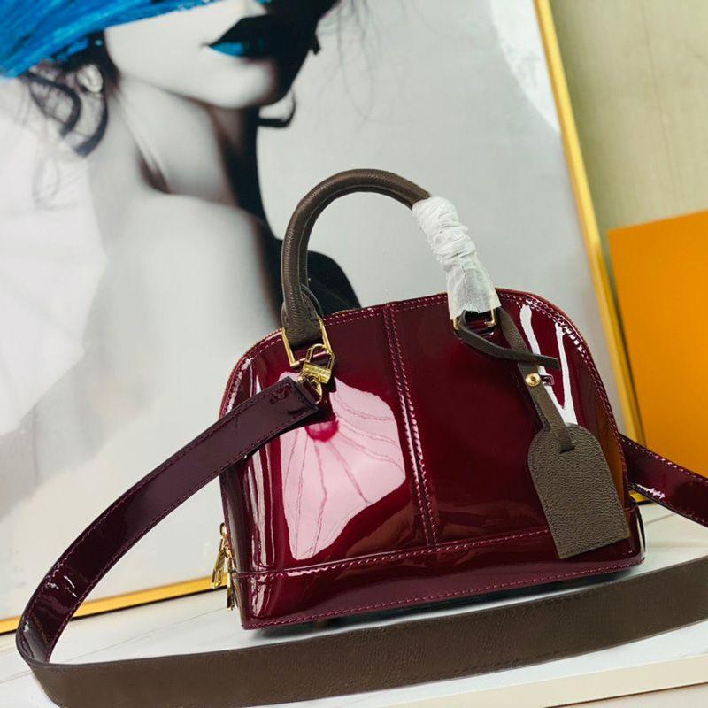 Newset Classic Shell Bag Damier Patent Leder Grid Handtaschen Frauen Schulter Segeltuch Crossbody Port Shopping Tote Well