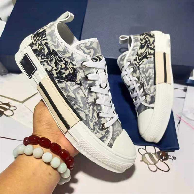 Moda Scarpe Casual Dupe B22 B23 AAAAA Stampato Alfabeto Stampato Sneakers Delle Scarpe da ginnastica Donne Mens Stilista Scarpa Oblique Scarpe da ginnastica Ricamo 1: 1 Sneaker alta alta bassa con scatola