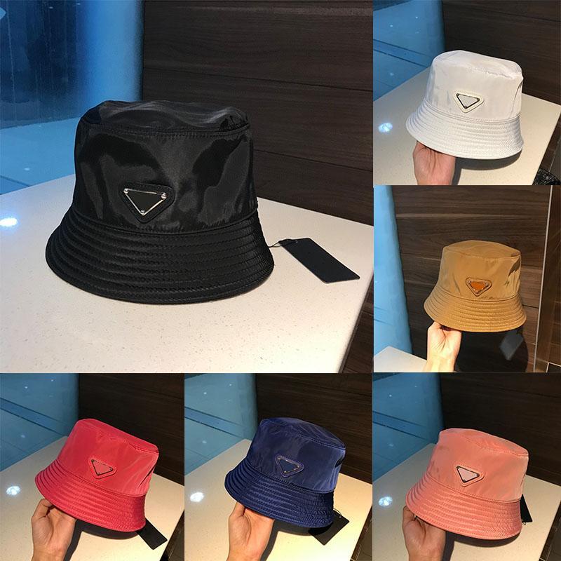 Party Hats Big Original Single Triangle Logo Negro Nylon Tendencia Sol salvaje Sol Hat Pescador gorra