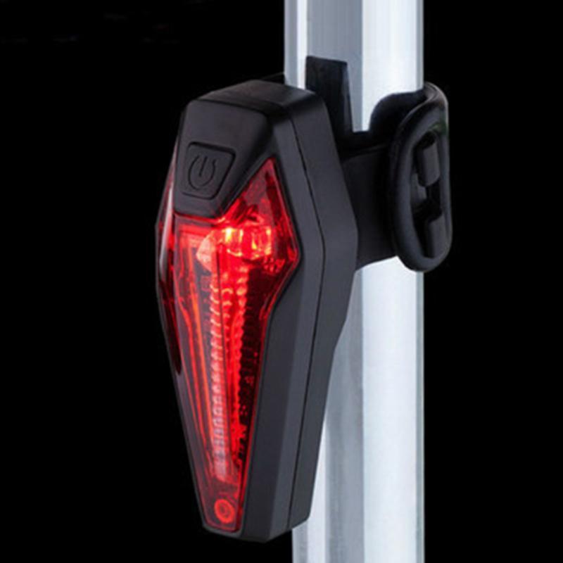Bisiklet Işıkları Güvenlik LED Bisiklet Yağmur Dayanıklı Kuyruk Lambası Spor Şarj Edilebilir Açık Arka Lambası USB