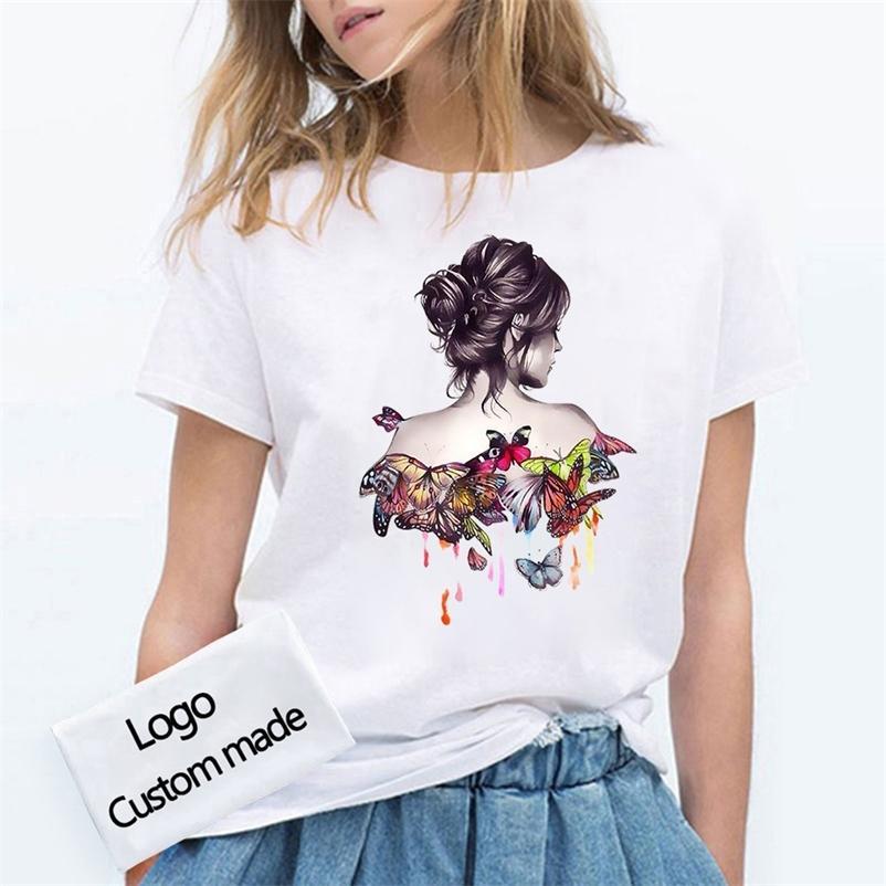 Seu próprio design / imagem personalizada homens e mulheres diy algodão camiseta manga curta casual t-shirt Tops tamanho S-4XL 210320