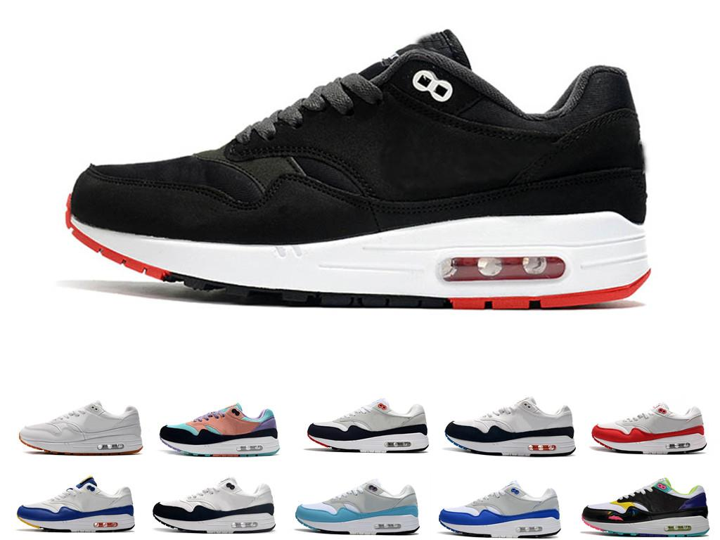 2020 max 87 1 one 핫 고전 한 한 남자의 여자가 신발을 실행 배 블랙 화이트 스포츠 트레이너 쿠션 표면 통기성 남성 스포츠 운동화 36-45 maxes