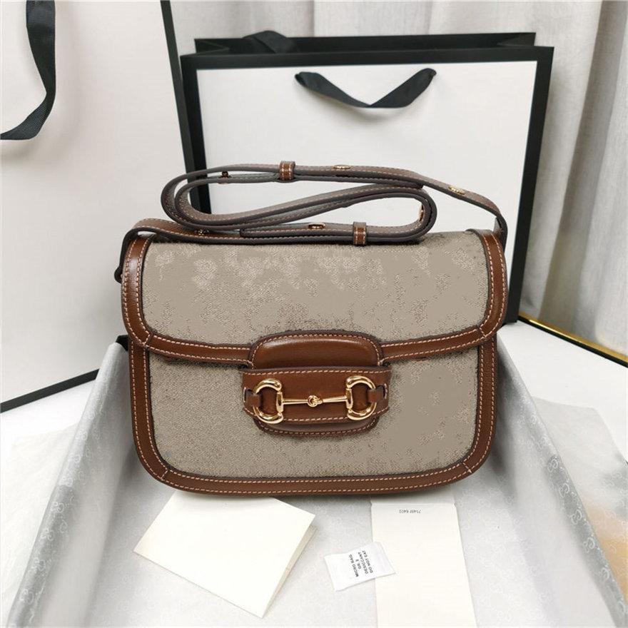 Alta Qualidade 1955 Horsebit Saddle Bag Designers Luxurys Mulheres Crossbody Bags Bolsa de Ombro Moda Metal Europa e América Lady