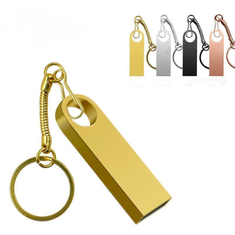 Free Customization Real Capacity USB Flash Drive Pendrive 32GB 64GB Memory Stick 4gb 16gb Drives 128 GB with Key Ring
