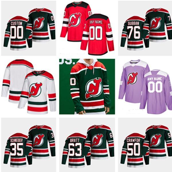Ne Jersey Devils 2021 29 Mackenzie Blackwood Reverse Retro Nico Hischier Jack Hughes Travis Zajac Kyle Palmier P.k.subban Crawford Трикотажные изделия