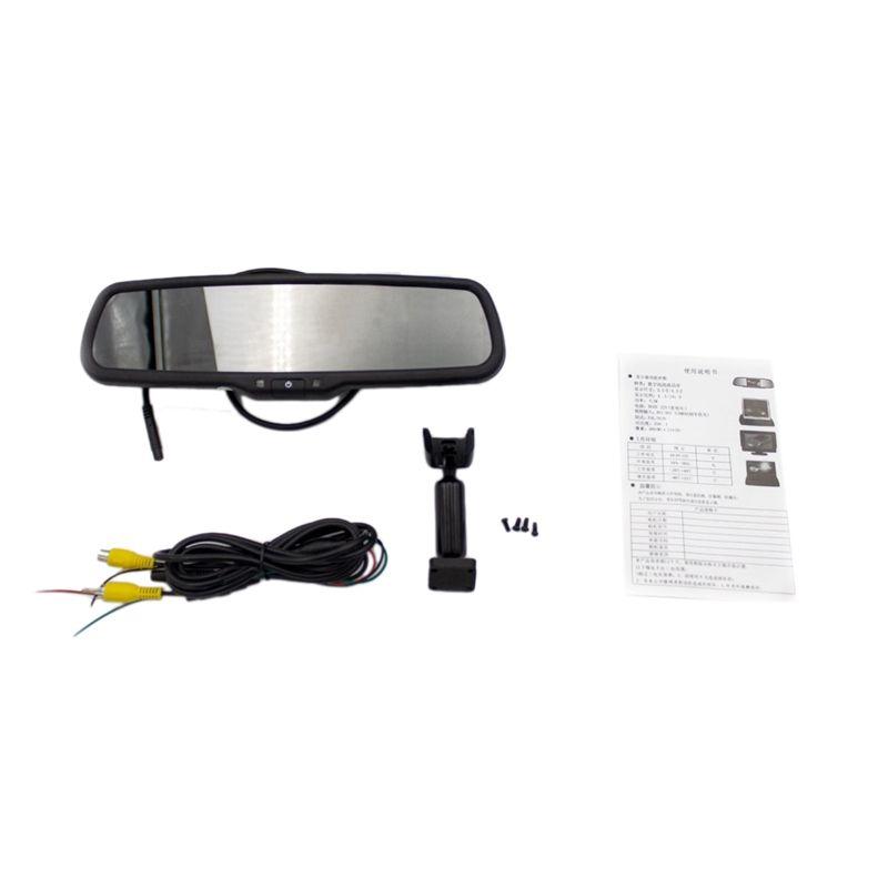 4.3 بوصة hd 800x480 سيارة لاعب فيديو الداخلية الرؤية الخلفية مرآة مرآة استبدال مراقب للسيارة الكاميرا الرؤية الخلفية وقوف السيارات