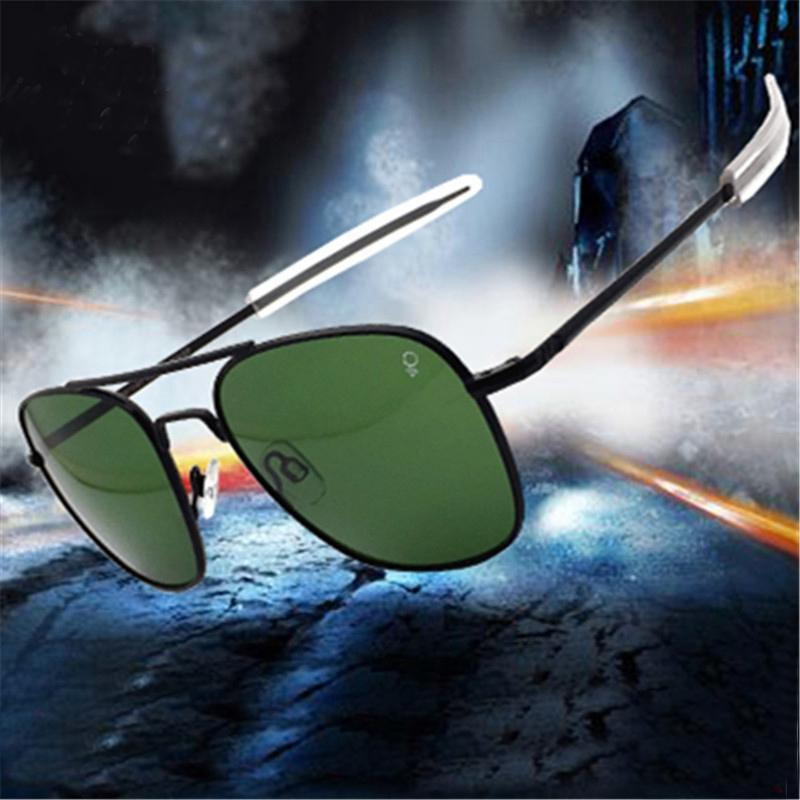 American Exército Piloto Militar AO Óculos de Sol Glass Lens Mulheres Mulher Designer Dirigindo Óculos de Sol Masculino Op55 Op57 Alta Qualidade