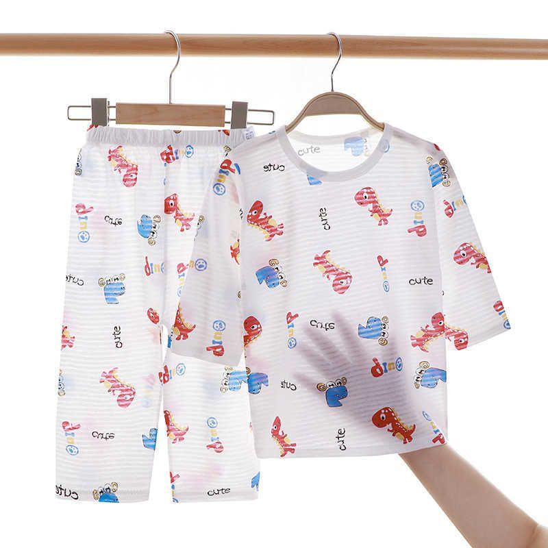 Sommer Baumwolle Set Kids Baby Pyjamas für Jungen und Mädchen Langarm Atmungsaktive Katzen Kaninchen Tier Kleidung 12m-8t